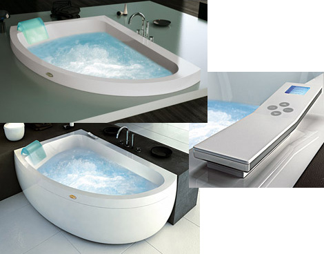corner jacuzzi whirlpool new aquasoul offset bath. Black Bedroom Furniture Sets. Home Design Ideas