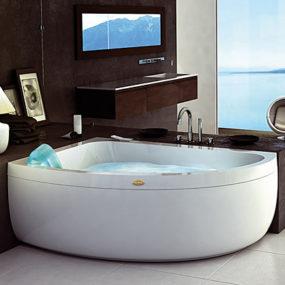 Corner Jacuzzi Whirlpool – new Aquasoul Offset bath