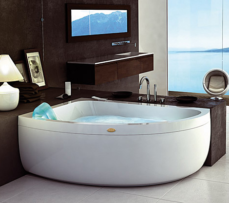 Corner Jacuzzi Whirlpool – new Aquasoul Offset bath