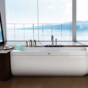 Designer Bathtub from Jacuzzi Europe by Carlo Urbinati – new clean modern bathtubs
