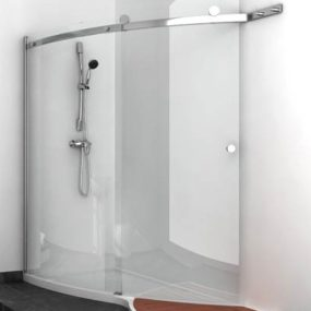Elegant Shower Design with glass shower enclosures by Jacuzzi