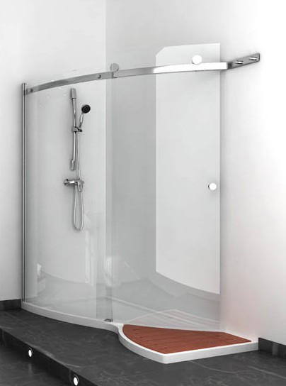 jacuzzi elegant shower design Elegant Shower Design with glass shower enclosures by Jacuzzi