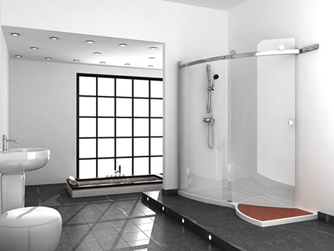 jacuzzi elegant shower designs Elegant Shower Design with glass shower enclosures by Jacuzzi