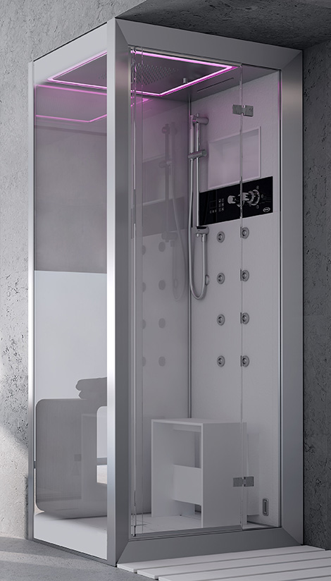 jacuzzi frame shower chromatherapy Hi Tech Showers for your luxury home – Frame shower by Jacuzzi