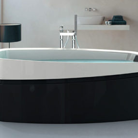 Ardore Freestanding Bath by Jacuzzi – soaker baths in black and white