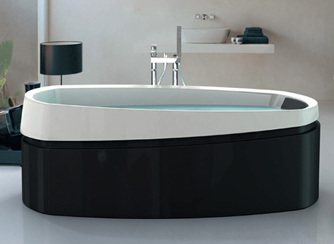 jacuzzi freestanding bathtub ardore Ardore Freestanding Bath by Jacuzzi   soaker baths in black and white