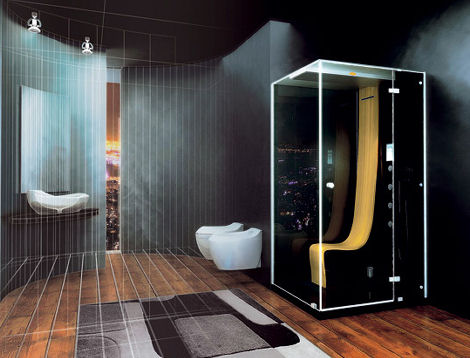 Bathrooms Jacuzzi Designs jacuzzi morphosis omega steam shower with hydromassage