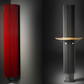 Contemporary Home Radiator by Jaga – Iguana circular radiator serves as heated coffee table!