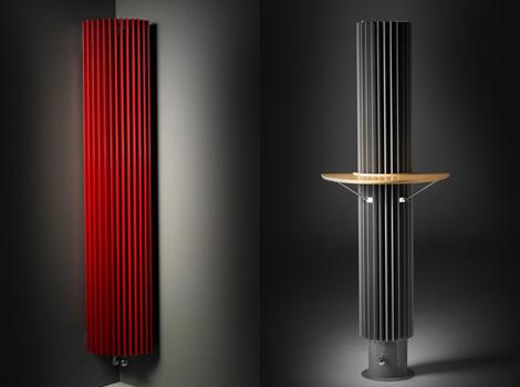 jagaiguana 1 Contemporary Home Radiator by Jaga – Iguana circular radiator serves as heated coffee table!