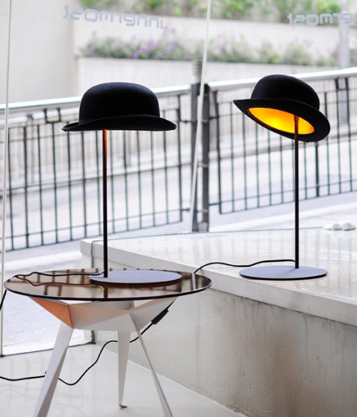 jake phipps hats table lamps jeeves 1 Hat Table Lamp by Jake Phipps