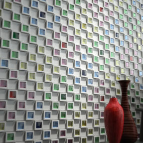 Japanese Wall Tiles –'Dent Cube'by Inax