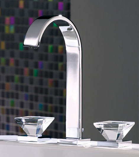 Luxury Faucets with Crystal Glass Handles from Joerger