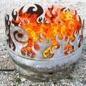 Artistic Firepit by John T. Unger – Recycled Steel Fire Pits