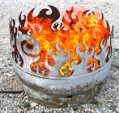 john t unger portable fire pits Artistic Firepit by John T. Unger   Recycled Steel Fire Pits