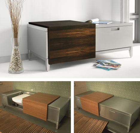 julien bench toilet New Bathroom Trend for 2007: Julien BenchToilet   toilet & bench in one for your powder room