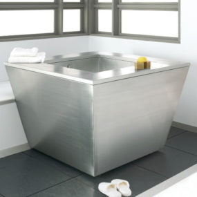 New Julien stainless steel Soaking Tub by Troy Adams Design