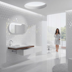 Lovely Tiles Bring Tranquility to Bathroom, from Kale