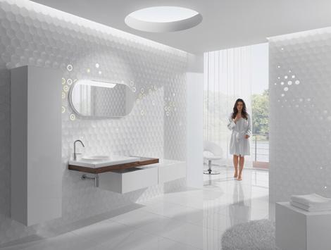 kale ceramic tiles dot 3 Lovely Tiles Bring Tranquility to Bathroom, from Kale