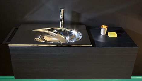 kanera washbasin 1x 1 Steel Art Washbasin by Kanera   1X