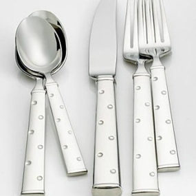 "Kate Spade ""Larabee Dot"" Upscale Flatware – whimsical fun for your tabletop"