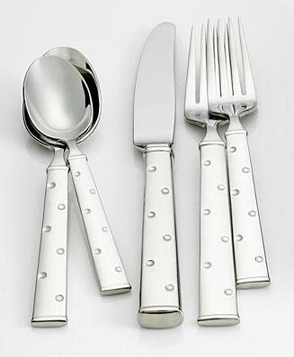 kate spade larabee dot flatware Kate Spade Larabee Dot Upscale Flatware   whimsical fun for your tabletop