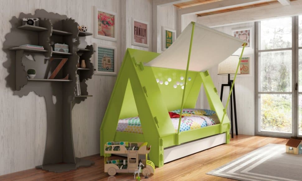 View in gallery kids playhouse beds from mathy by bols 2 thumb 630x378 21879 Kids Playhouse Beds from Mathy & Kids Playhouse Beds from Mathy by Bols: Loft Treehouse Canopy