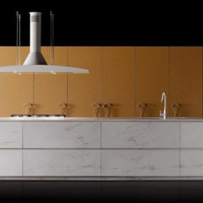 Unique Kitchen Designs – Marble and Leather 'Progetto50' by Toncelli