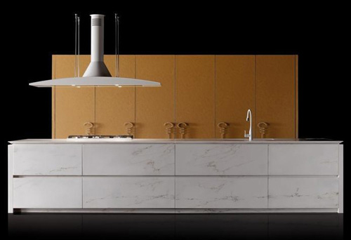 kitchen progetto50 toncelli 2 Unique Kitchen Designs   Marble and Leather Progetto50 by Toncelli
