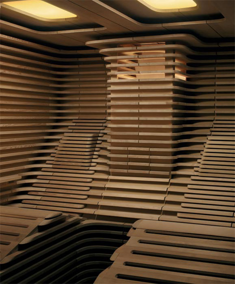 klafs designer saunas pre built biorhythm 2 Designer Saunas   pre built sauna Biorhythm by Klafs