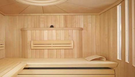 Klafs sauna Charisma - inside view