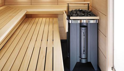Klafs sauna Charisma - wooden shelves