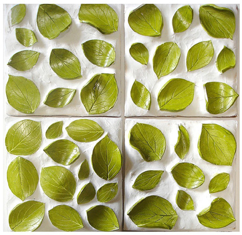 Nature Inspired Ceramic Tile Leaves Pattern Tiles In 3d