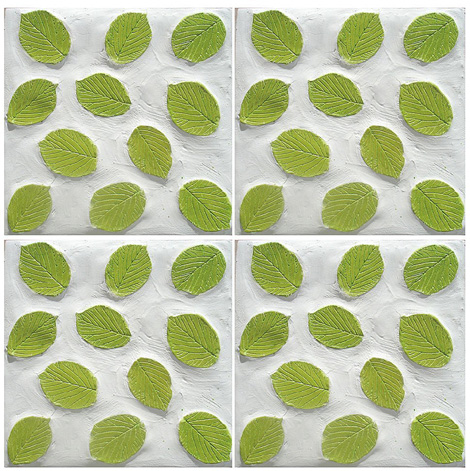 kls design ceramic tiles nature 2 Nature Inspired Ceramic Tile   Leaves Pattern Tiles in 3D by Kls Design