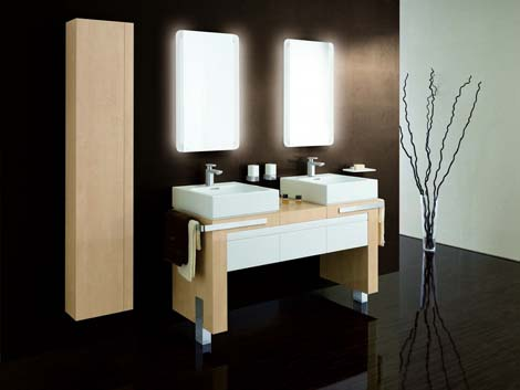 kludi esprit double vanity Kludi Bathroom furniture   the Esprit furniture