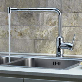 Telescopic Kitchen Pull Out Faucet by Kludi – L-ine