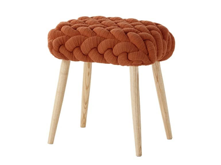 Knitted Wool Stool by Gan