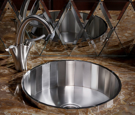 kohler brinx sink New Kohler Brinx Entertainment Sink   faceted steel with mirrored finish