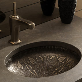 Cast Bronze Sink – new undermount lavatory sinks by Kohler