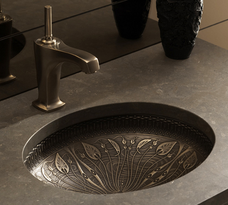 Cast Bronze Sink - new undermount lavatory sinks by Kohler