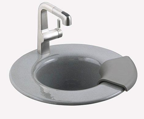 kohler cordial sink1 New Kohler Entertainment Sink Cordial   innovative cast iron design