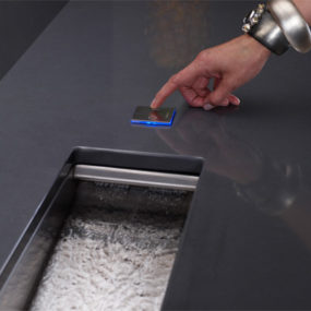Kohler Crevasse Prep Sink – integrated garbage disposal and touch control!