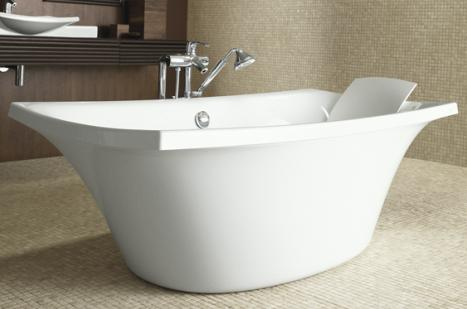 kohler escale k 11344 0 freestanding bath k 1676 0 pillow Kohler Escale Suite   new bathroom and powder room suite   a distinctive design