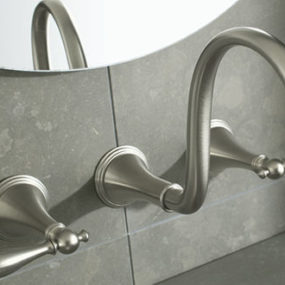 Kohler Finial Traditional wall-mount faucet – the new lavatory faucet