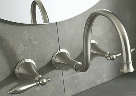 Kohler Finial Traditional Wallmount Faucet The New Lavatory Faucet - Kohler wall mount bathroom faucet