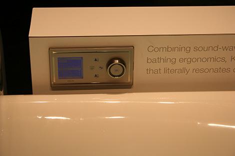 kohler fountainhead vibracoustic bath control Kohler Vibrating bath Fountainhead VibrAcoustic   Wash Away your Stress!