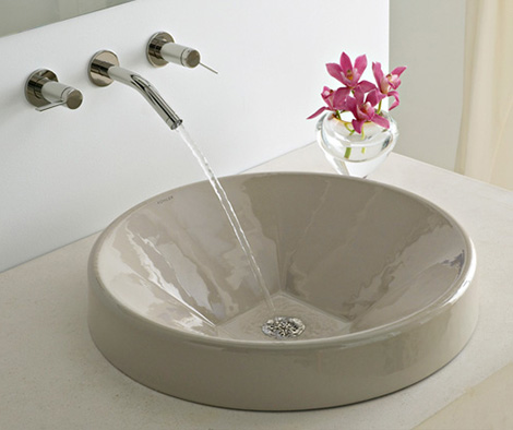 kohler inscribe wading pool vessel Cast Iron Vessel from Kohler   new Inscribe Wading Pool Lavatory
