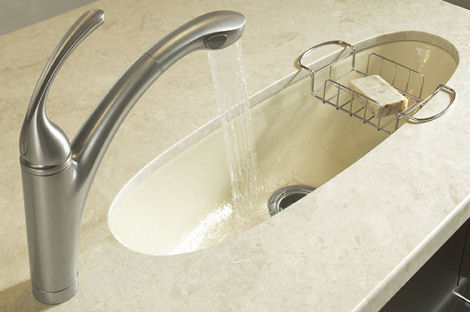 kohler iron tones kitchen entertainment sink cane sugar Kohler Preparatory Sink   A Handy Addition to your Traditional Kitchen Sink