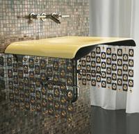 Kohler Moxie Cast Iron Lavatory … with Beaded Curtains