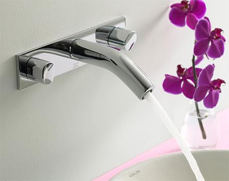 kohler oblo wall mount faucet Contemporary Bathroom Faucet Range Oblo   New for 2008 from Kohler