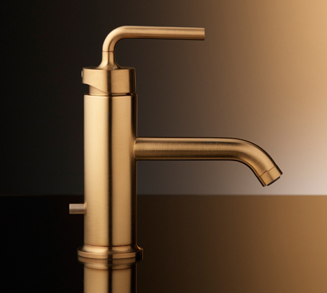 Brushed Gold Bathroom Faucets By Kohler